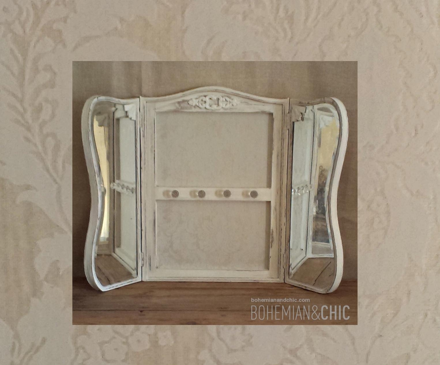 C mo transformar un antiguo espejo en colgador how to - Transformar muebles antiguos ...