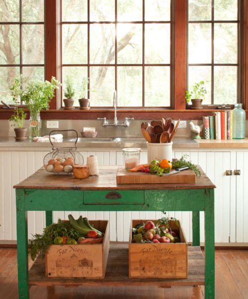 27 ideas para decorar con una antigua mesa tocinera