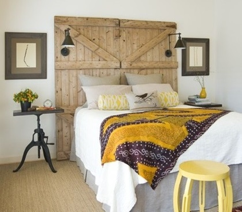 20 cabeceros de cama con puertas recuperadas /20 headboard made with ...