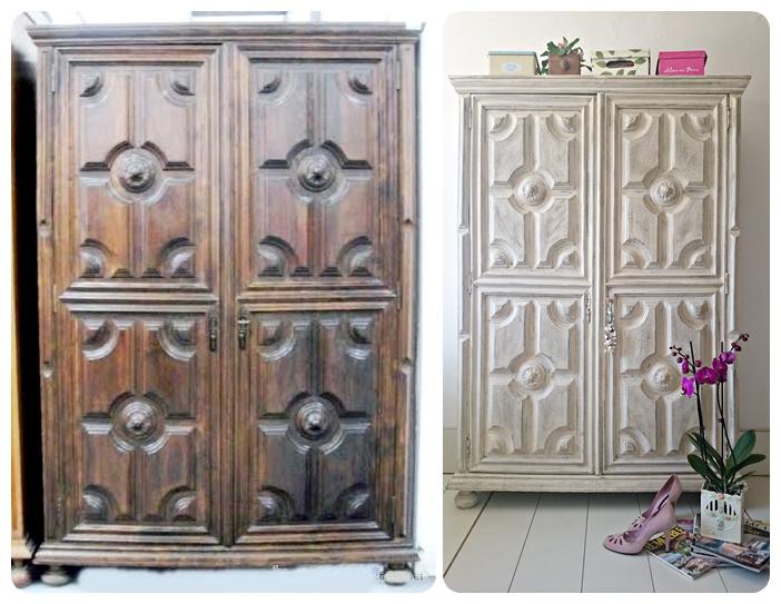 Armario entrada antes y despus de un armario antiguo para - Armarios de entrada ...