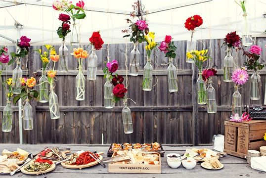 22 ideas para decorar un banquete de bodas tipo cóctel   tienda