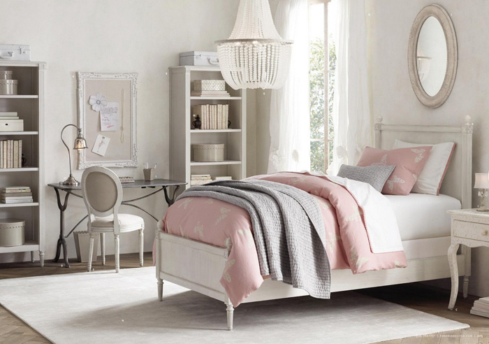 11 dormitorios rom nticos en tonos pastel para chicas On chica morada y rosa habitacion deco