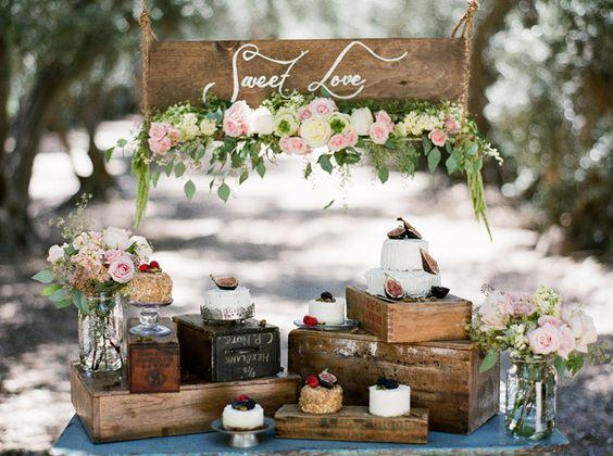 ideas para decorar con cajas de frutas una boda