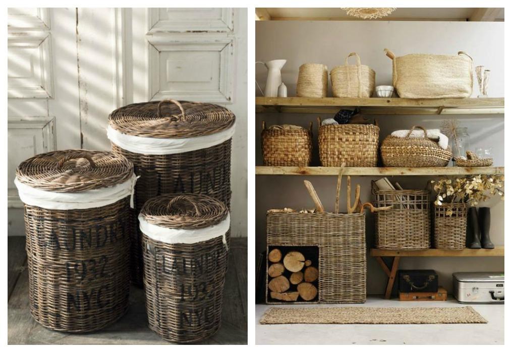 24 ideas para decorar con cestos de fibras naturales | Tienda online ...