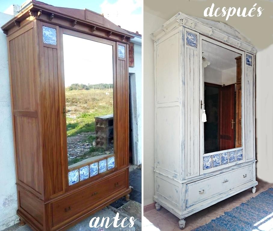 C mo actualizar un armario antiguo tienda online de for Como restaurar un mueble viejo