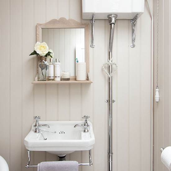 Baños Estilo Shabby Chic:Bathrooms with Tongue and Groove