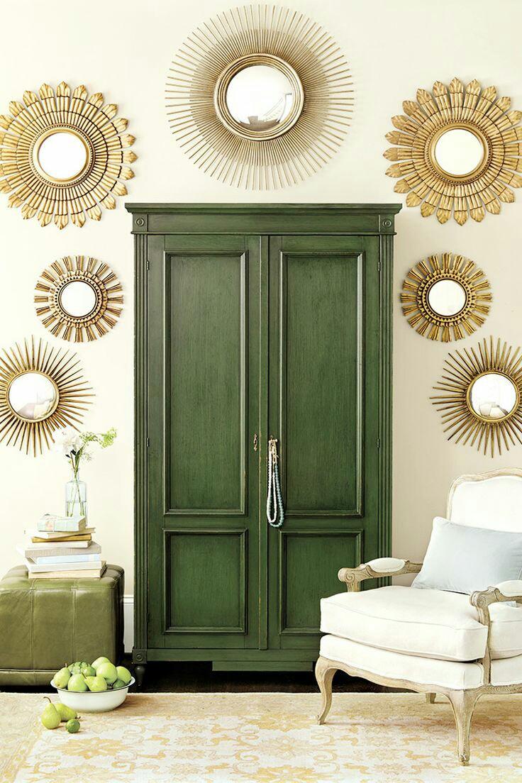 19 ideas para decorar con un armario el sal n - Decorar un salon grande ...
