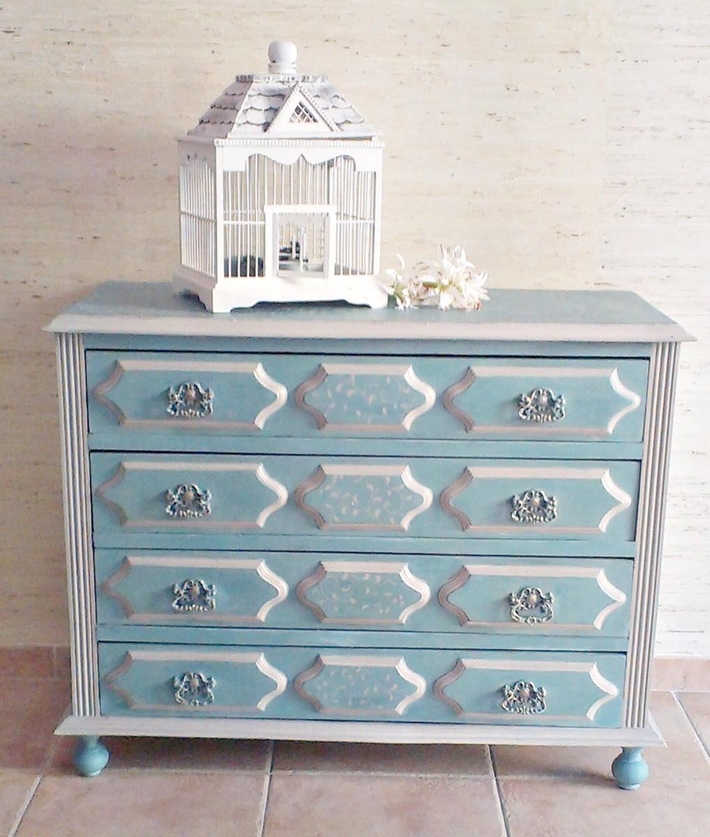 9 t cnicas para pintar una c moda tienda online de decoraci n y muebles personalizados - Muebles pintados en plata ...