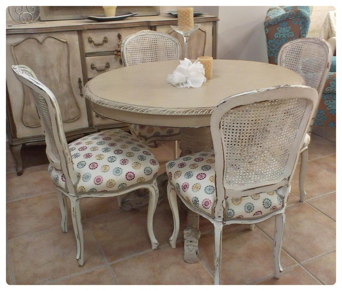 Antes y despu s de una mesa de comedor before and after - Muebles pintados de colores ...