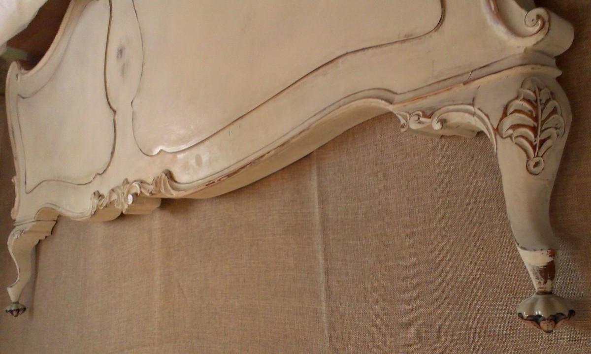 De piecero de cama a original cabecero sabby footboard - Cabeceros cama caseros ...