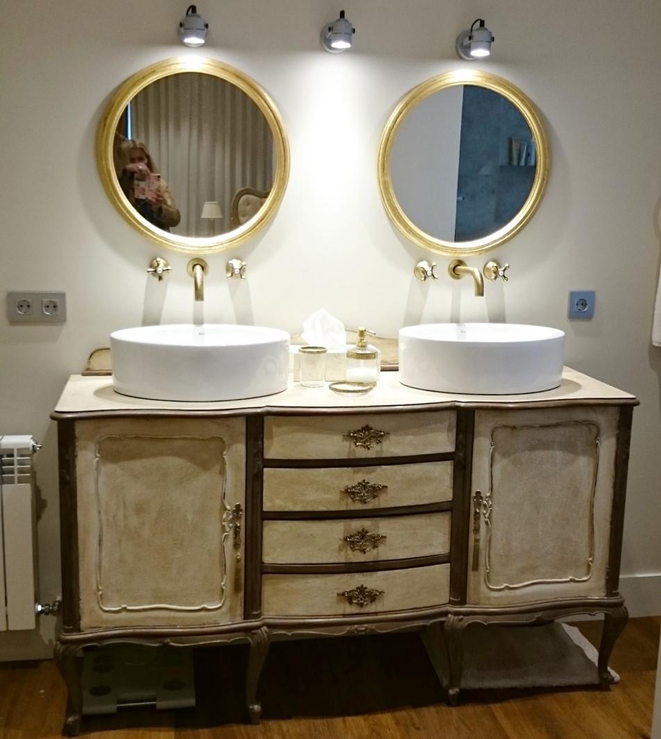 Aparador Retro Mdf Amarelo ~ Aparador vintage transformado en mueble de baño