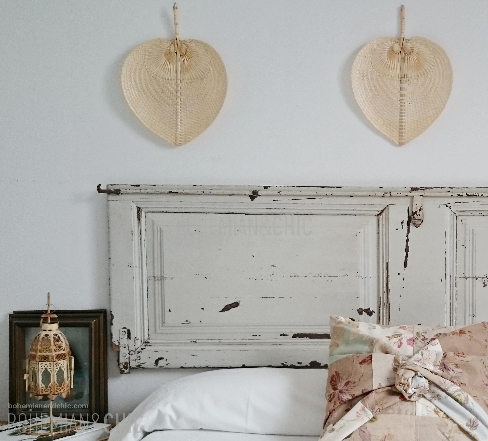 C mo decorar la cabecera de la cama con una puerta for Como decorar una cama