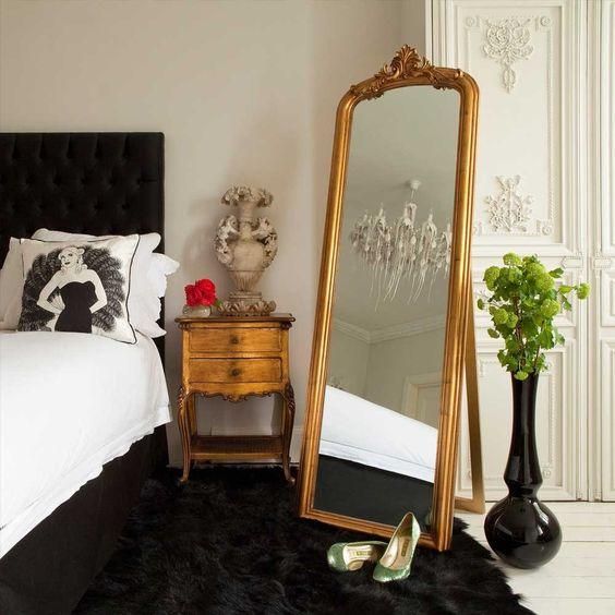 27 ideas para decorar con espejos grandes antiguos - Espejos para el bano ideas y consejos ...
