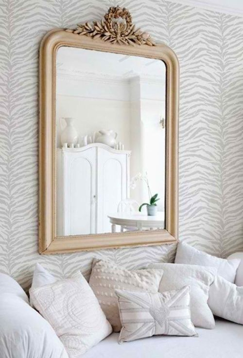 27 ideas para decorar con espejos grandes antiguos for Espejos decorativos para chimeneas