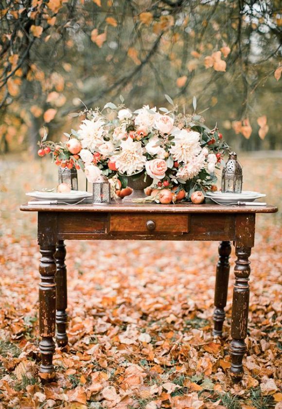 44 ideas para decorar una boda de oto o tienda online de decoraci n y muebles personalizados - Decorar hojas de otono ...