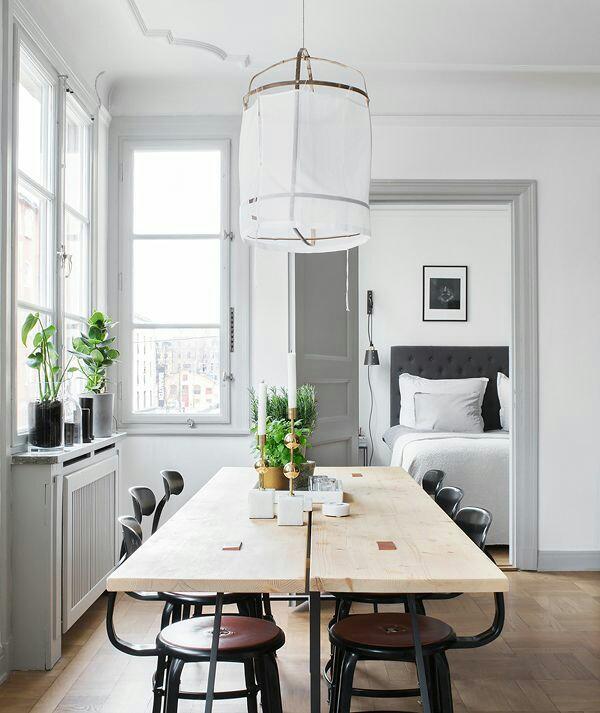 45 Ideas Para Decorar Con Mesas De Comedor De Madera Y Forja - Decorar-mesa-comedor