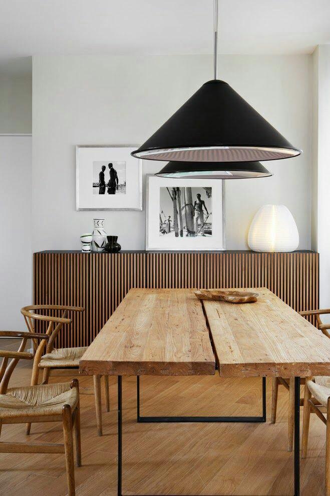45 ideas para decorar con mesas de comedor de madera y forja