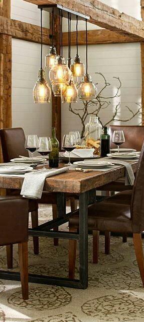 45 ideas para decorar con mesas de comedor de madera y forja ...