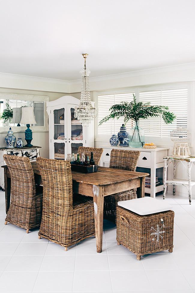 Una hermosa casa de estilo r stico chic con muebles y - Casas con estilo rustico ...