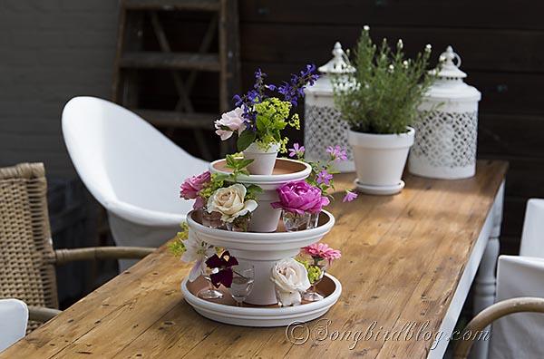 ideas fciles para hacer un centro de mesa con flores
