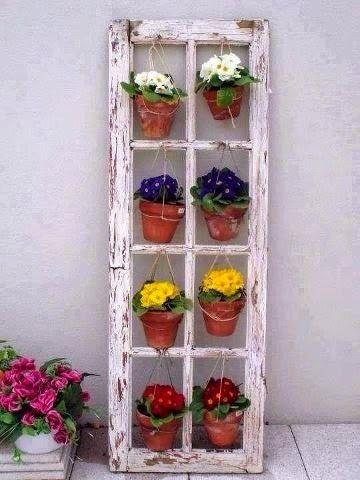 16 ideas low cost para decorar balcones y terrazas - Maceteros colgantes para balcones ...