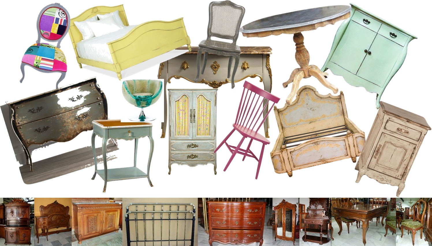 Muebles antiguos y vintage para reciclarAntique and vintage furniture