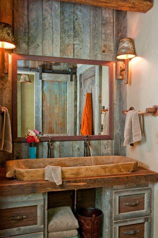 Como utilizar la madera reciclada en la decoración del baño/ how ...