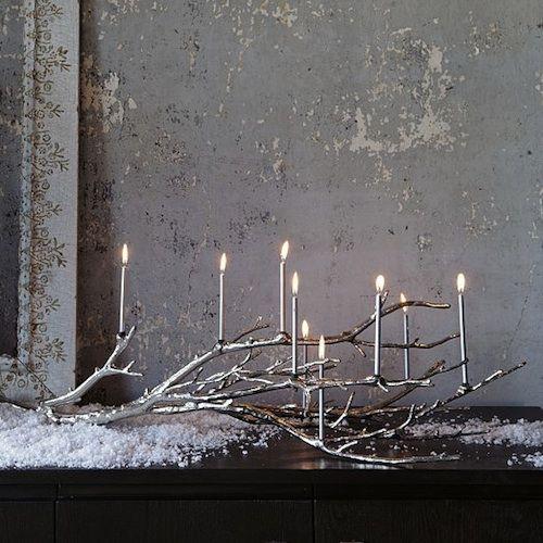 19 ideas para hacer detalles navide os con ramas secas - Rami decorativi natalizi ...