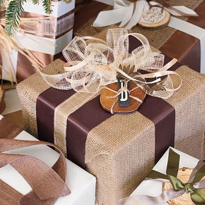 Burlap gifts l