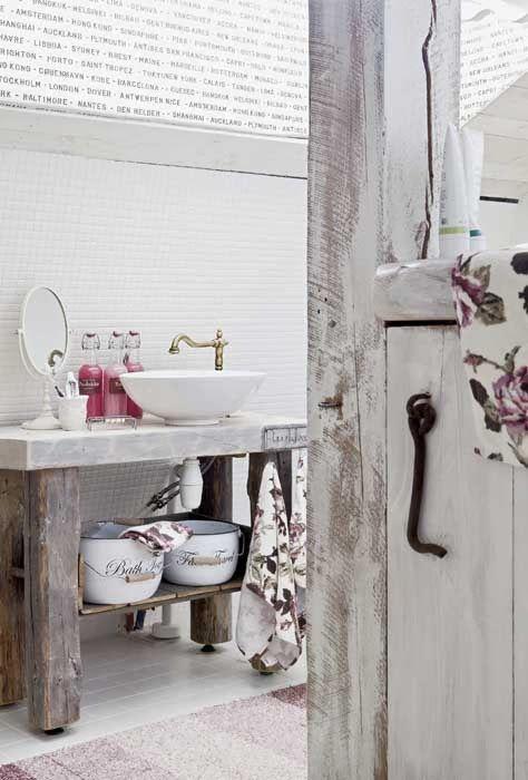 Baños Estilo Shabby Chic: ideas para conseguir un baño de estilo rústico