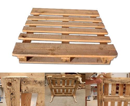 Mesa centro palet mesa centro cajas de palets de diseo - Como hacer patas de madera para mesas ...