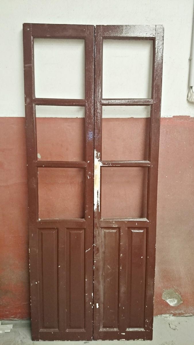 cmo convertir una antigua puerta en un espejo - Puertas De Madera Antiguas