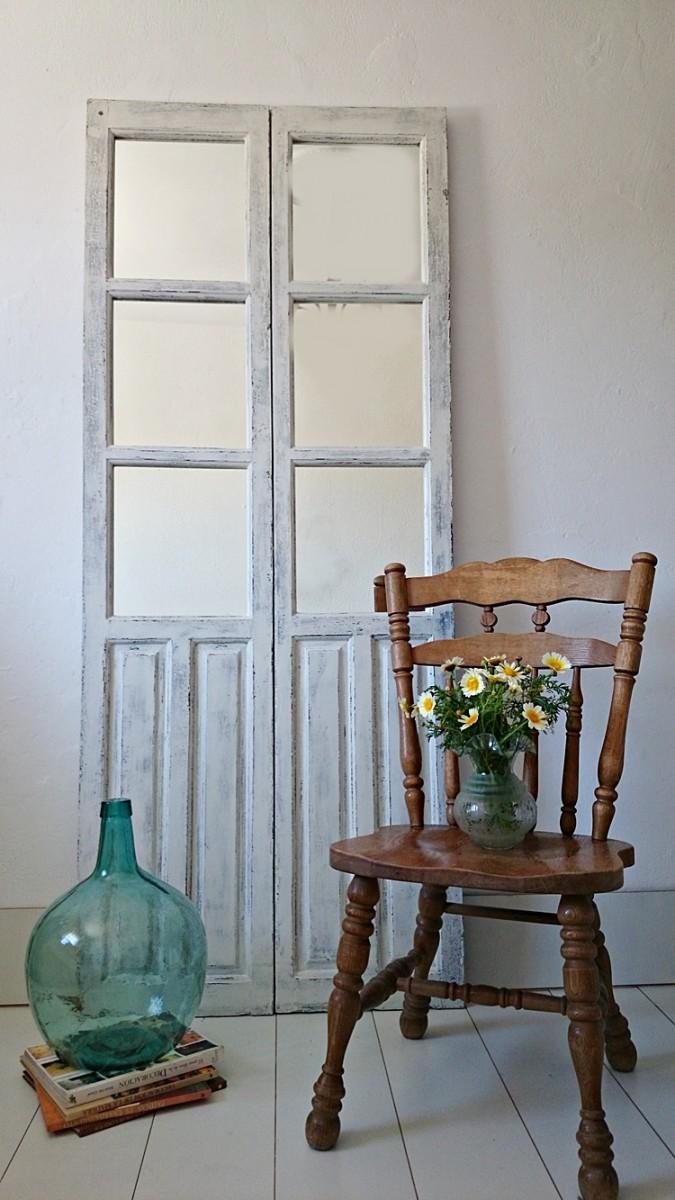 C mo convertir una antigua puerta en un espejo tienda - Muebles provenzales online ...