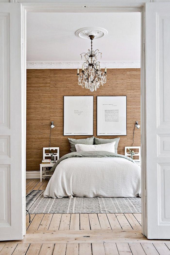 C mo utilizar una silla como mesita de noche tienda for Dormitorio matrimonio estilo nordico