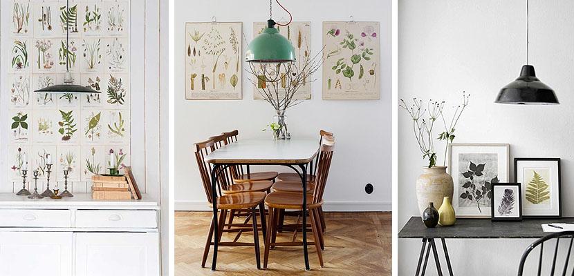 9 ideas para decorar con l minas de bot nica tienda - Laminas decorativas para cocinas ...