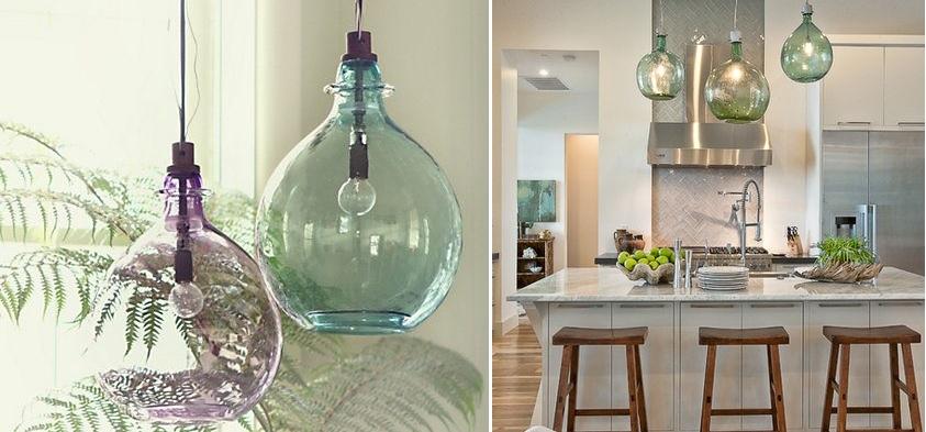 10 ideas de como decorar con damajuanas bohemian and chic - Como decorar tulipas de lamparas ...