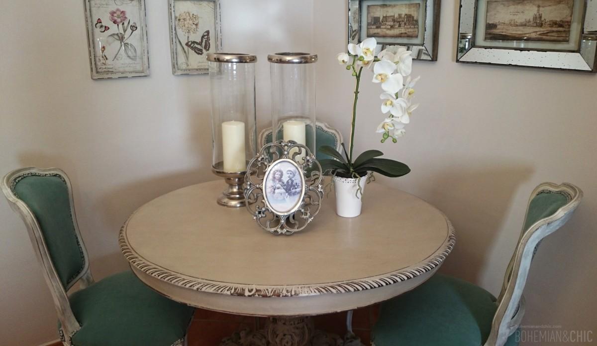 Un estilo shabby para el proyecto de decoraci n de la - Que poner encima de una mesa de comedor ...