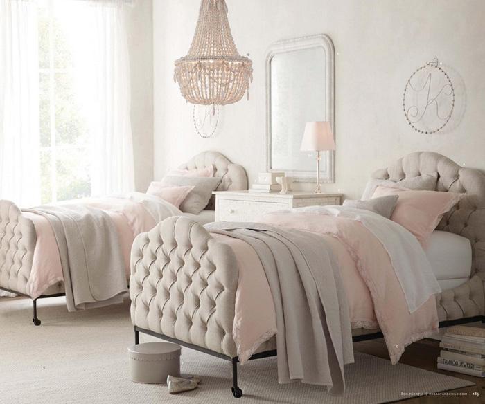 11 dormitorios rom nticos en tonos pastel para chicas for Muebles romanticos blancos