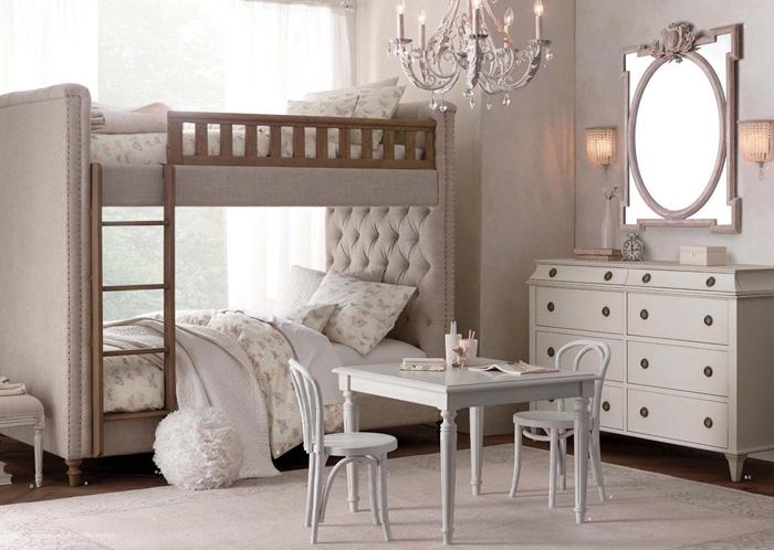 11 dormitorios rom nticos en tonos pastel para chicas for Habitaciones para ninas con literas