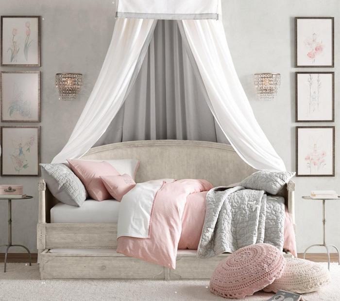 11 dormitorios rom nticos en tonos pastel para chicas for Programa para decorar habitaciones online