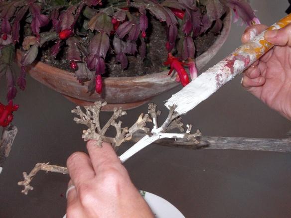 Como hacer un rbol de navidad original con ramas tienda - Como hacer un arbol de navidad blanco ...