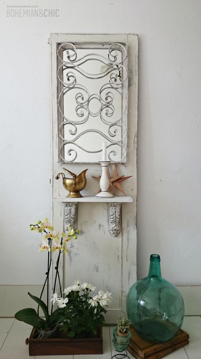 C mo transformar una puerta antigua en un mueble de for Decoracion con puertas antiguas