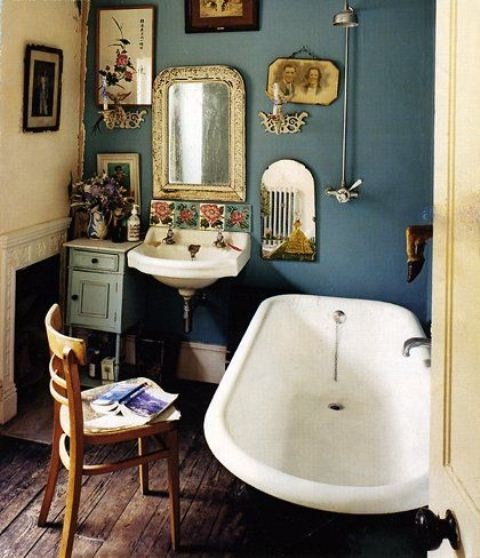 Baños Estilo Bohemio:Vintage Bathroom Wall Decor