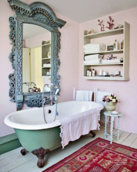 Baños Estilo Bohemio:Tub Foot Claw Mirror