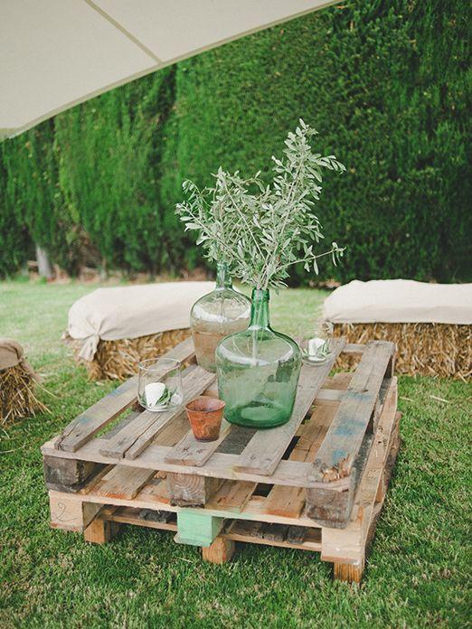 Ideas Para Matrimonio Rustico : Ideas de cómo decorar con ramas olivo una boda