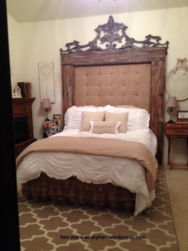 25 ideas originales de cabeceros tapizados con arpillera tienda online de decoraci n y muebles - Cabeceros tapizados vintage ...