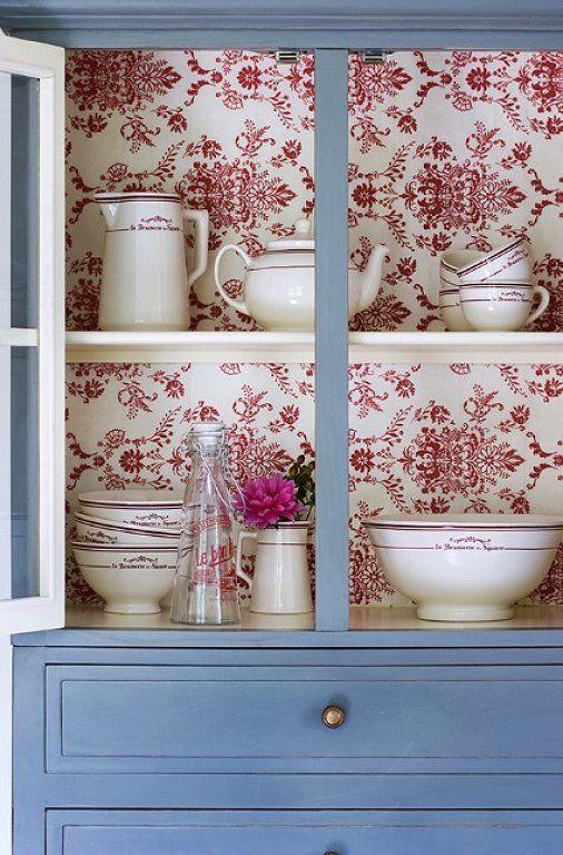 Decoracion De Muebles Pintados.Ideas Para Actualizar Muebles Con Papel Pintado