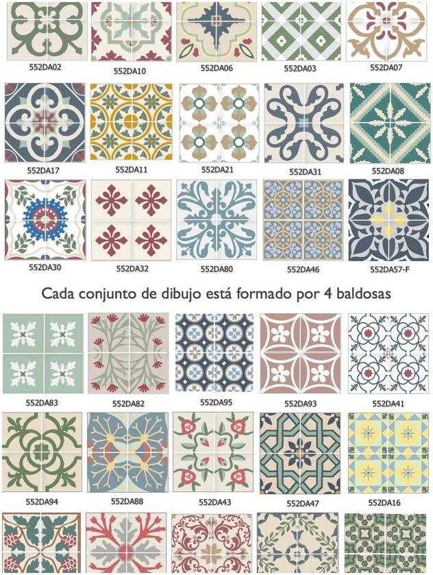 22 ideas para decorar con baldosas hidra licas tienda for Baldosas decorativas