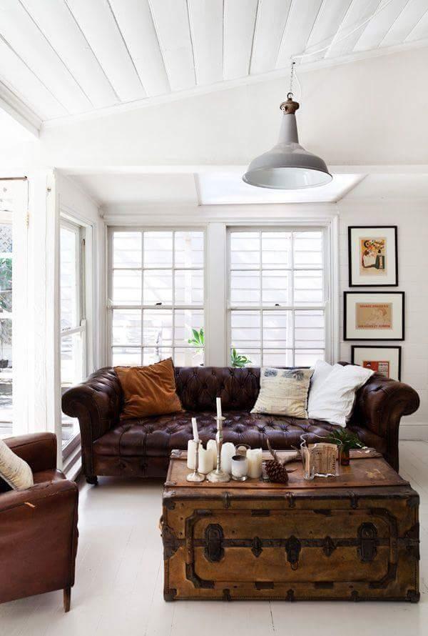 15 ideas para decorar con ba les antiguos tienda online - Decoracion con baules ...