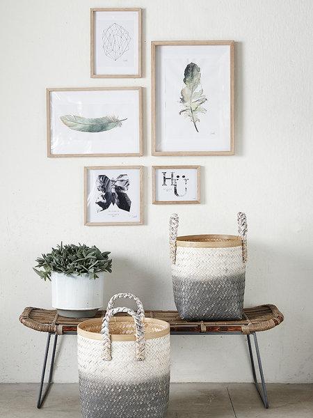 24 ideas para decorar con cestos de fibras naturales for Decorar habitacion online